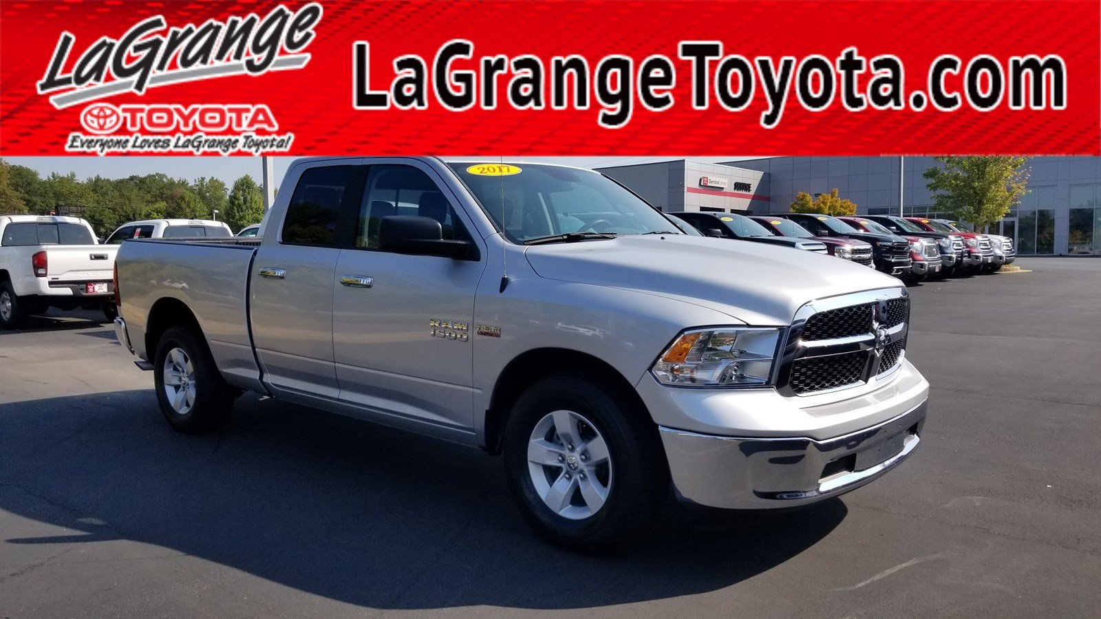 Pre-Owned 2017 Ram 1500 SLT 4x2 Quad Cab 6'4 Box